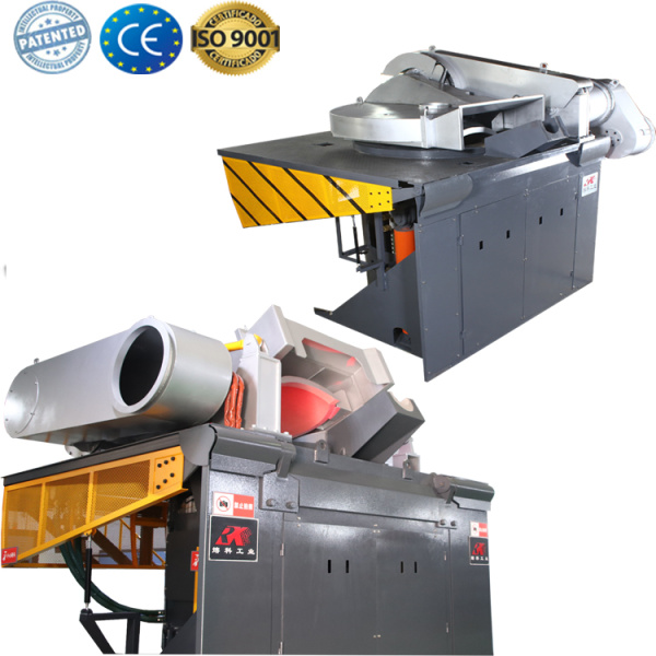 Industrial  smelting furnace for melting iron copper