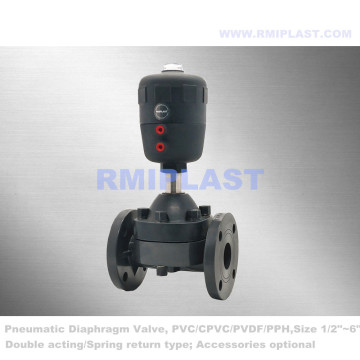 Pneumatic Diaphragm Valve Double Acting