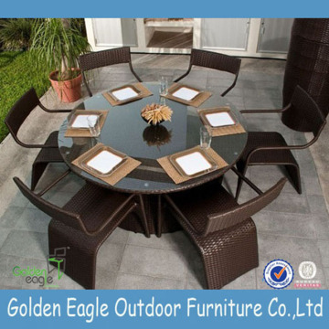 Round Garden Rattan Furniture with Competitive Price
