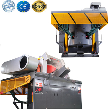 Induction metal melter furnace for melting  aluminum