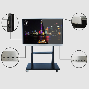 65 inches interactive smart panel with mobile stand