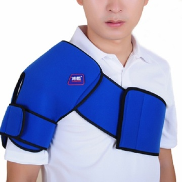 Shoulder cold therapy wrap with ice gel pack