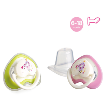 A0156 Flat Heart Shape Baby Silicone Pacifier