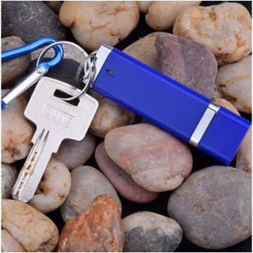 Plastic USB Flash Drives with keychain