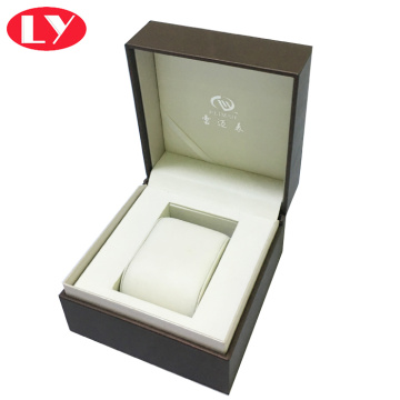 PU leather watch box with pillow inlay