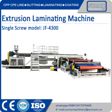 2 side PE PP extrusion laminating machine
