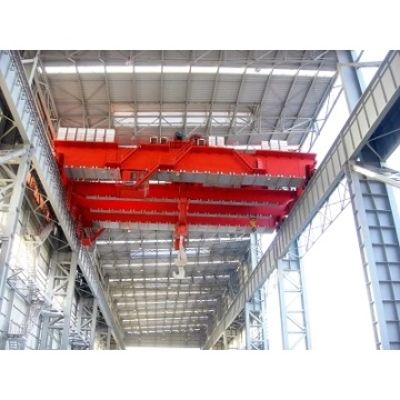 50 ton double overhead crane with winch trolley