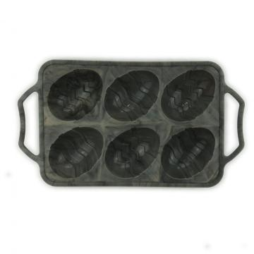 6-Cavity Half Egg Marbling Silicone Mold