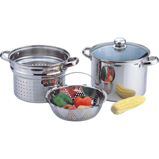 4pcs  stainess steel pasta pot
