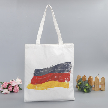 Shopping Cotton Canvas Flag  Pattern Bag