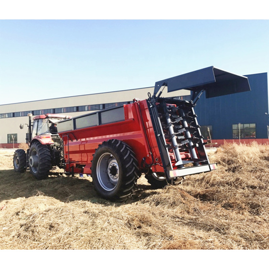 Tractor mounted pto manure fertilizing spreader