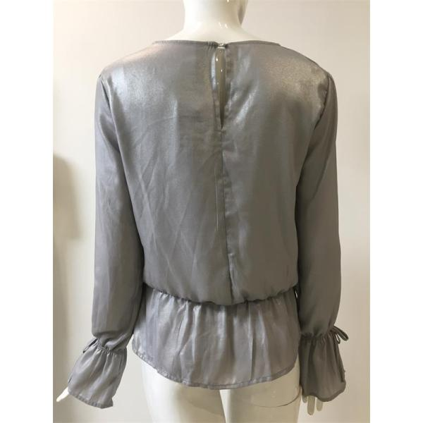 silver pressed blouse