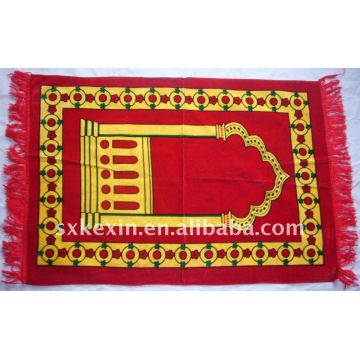 3-layer thin velvet print  Prayer Rug Thin