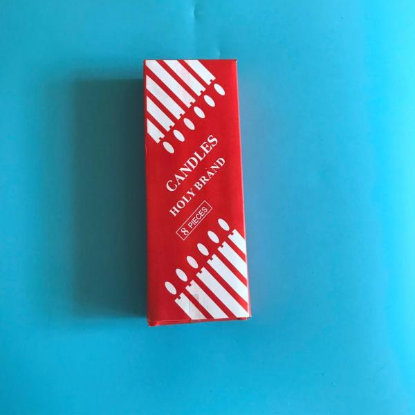 Red Box Packing 36g-40g White Household Candle