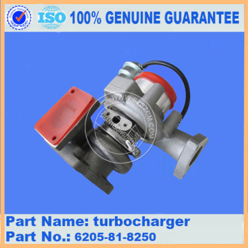 Komatsu spare parts PC78US-6 turbocharger 6205-81-8250 for engine parts