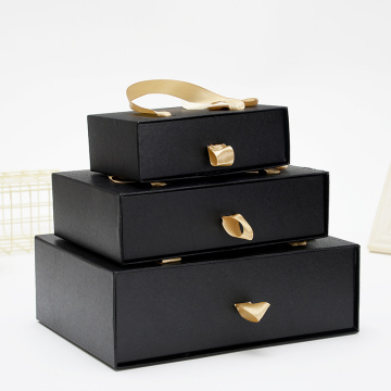 Custom black gift sliding packaging box