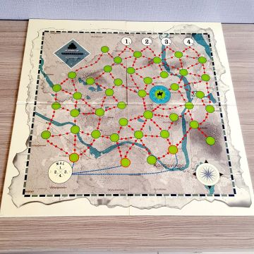 Custom printed children color pattern paper game board