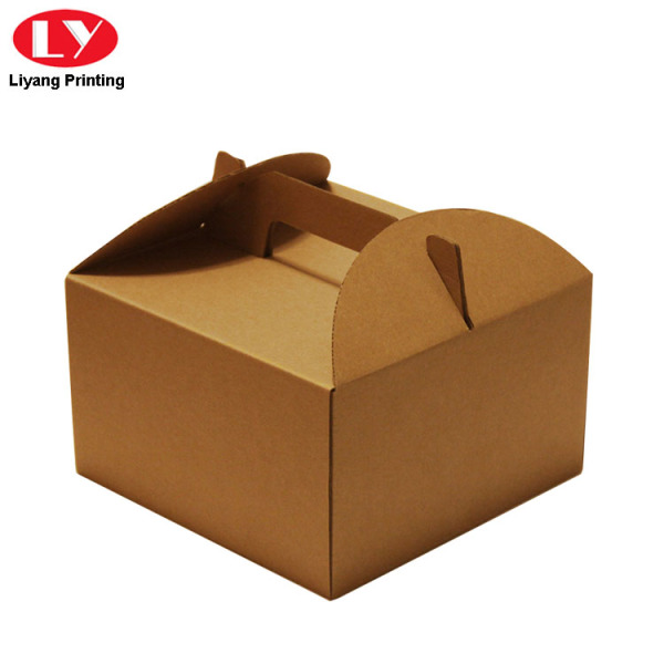 Kraft Paper Cookie Box With Die Cut Handle