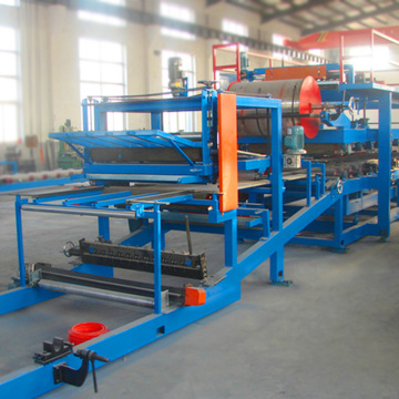 Mineral wool flat board sandwich panel production line machine