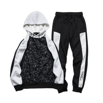 Men 2pcs Casual Hoodies Jogging Pants Tracksuit