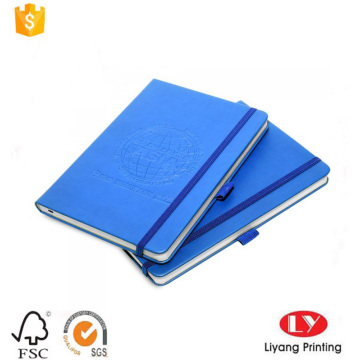 Hardcover PU notepad printing with pen holder