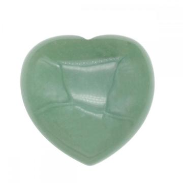 40X40X20MM Natural Green Aventurine Heart  for women Chakra healing Jewelry without hole