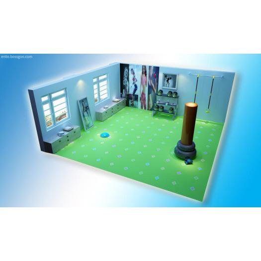 3D Technology Print Flooring for Gym