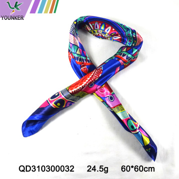 COLORFUL PRINTING SATIN SCARF