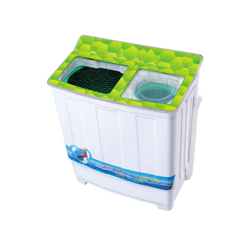 Green Glass Cover 7.2KG Twin Tub Washing Machine