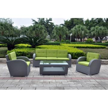 4pcs rattan furniture garden outdoor leisure sofa