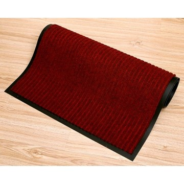 Colorful stripe design thin cheap floor mat