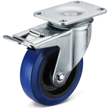 Trolley Casters with pressed rigid wheel frame