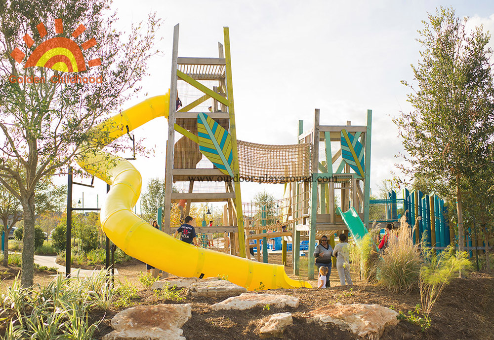 kids' outside Playground Slide Tower