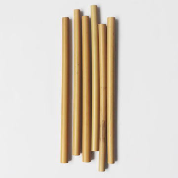 Customized Logo Bamboo Straw With Brush