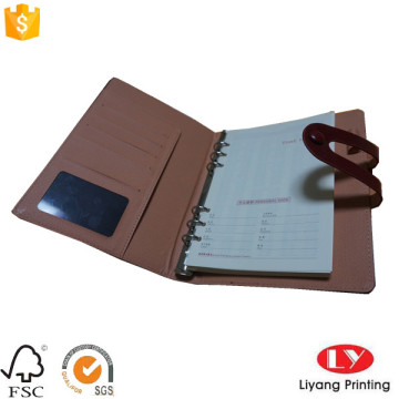 Leather Customized Office Notebook with Pocket