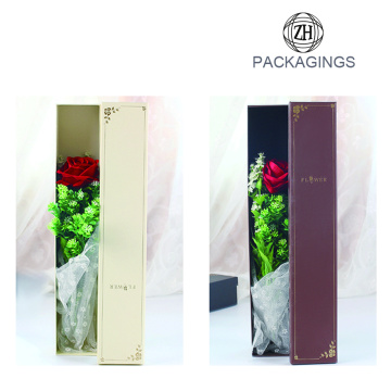 Decorative stamping single flower box packaging