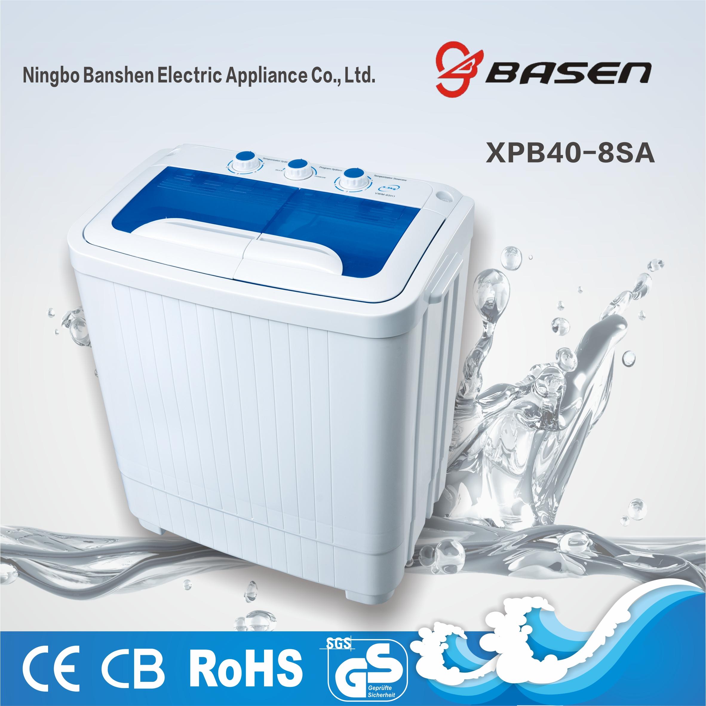4kg mini twin tub washing machine