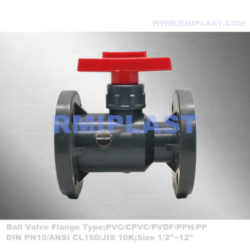 UPVC Ball Valve Flange End SABS