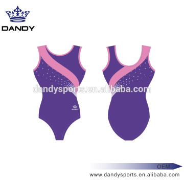 scattered rhinestones leotards for girls