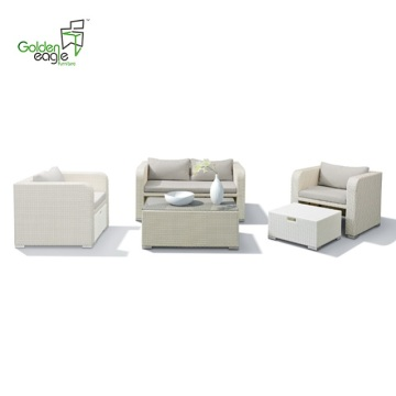 4pcs aluminum outdoor furniture rattan UV-resistant