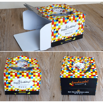 Corrugated paper birthday cake packaging