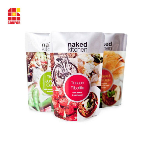 Custom Printed Stand-Up Pouch Flexible Food Packaging