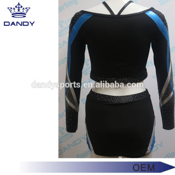 elegant metallic stripes adult cheerleader costume