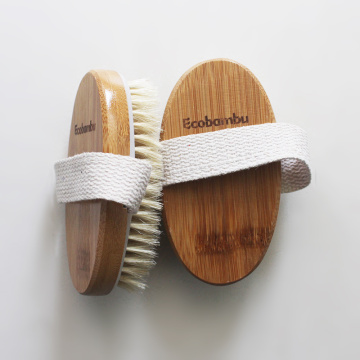 Natural Bristles Shower Bamboo Brush Cellulite Massager