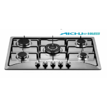 5 Burners Stainless Steel Natural Built In GasStove