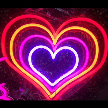 HEART LED NEON LIGHT SIGNS