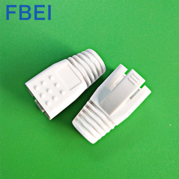 PVC connector boots CAT7 connector boots  white