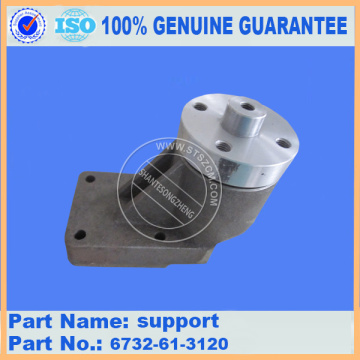Komatsu spare parts PC200-7 support 6732-61-3120