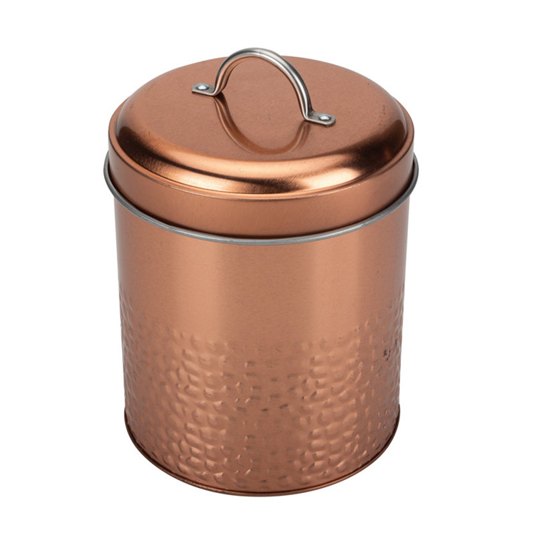 Modern copper coffee canisters tins