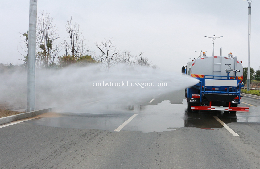 water carrying truck in action 3